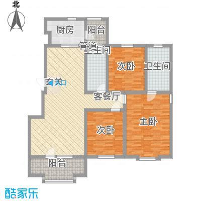 乐活・两岸568庄园135.10㎡M户型3室2厅2卫