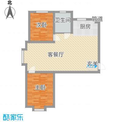 乐活・两岸568庄园85.55㎡204#205#26F2-26层户型2室2厅1卫1厨
