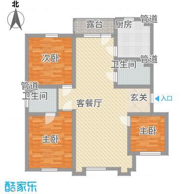 乐活・两岸568庄园115.70㎡Y户型3室2厅2卫