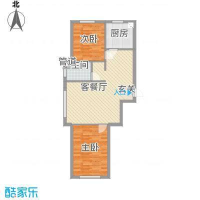 宏业枫华86.00㎡户型2室2厅1卫