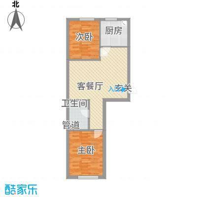 宏业枫华73.00㎡户型2室2厅1卫