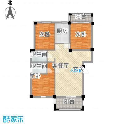 龙登和城13.83㎡和城G1-01户型3室2厅2卫1厨