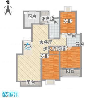 尚东城156.00㎡B户型3室2厅2卫1厨