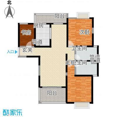 天润碧海湾156.40㎡D栋02户型3室2厅2卫1厨