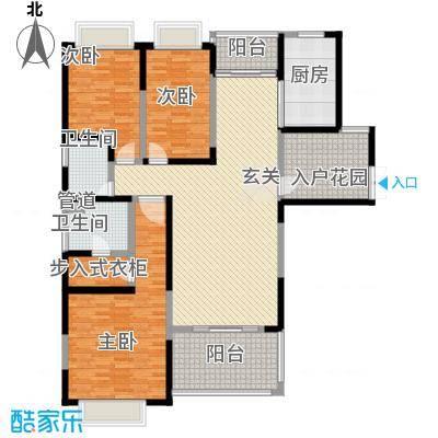 天润碧海湾168.20㎡C栋01户型3室2厅2卫1厨