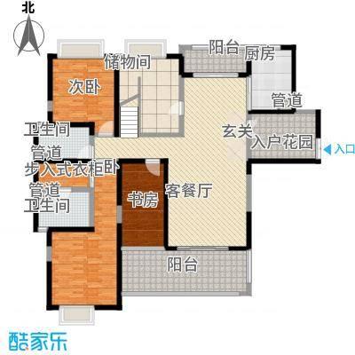天润碧海湾327.70㎡B栋01复式1F户型7室3厅3卫1厨