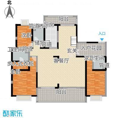 天润碧海湾411.68㎡A栋01复式1F户型7室3厅5卫1厨