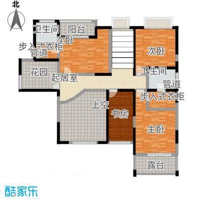 天润碧海湾338.24㎡B栋02复式2F户型7室3厅4卫1厨