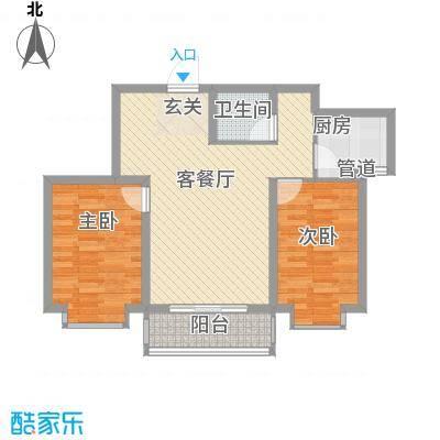 锦绣鹏城06户型2室2厅1卫