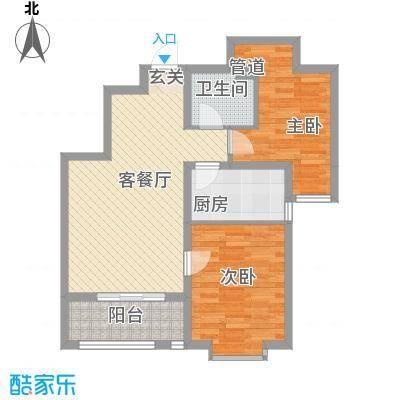 锦绣鹏城11_副本户型2室2厅1卫