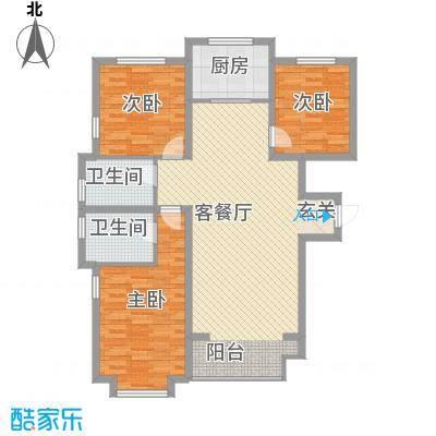 锦绣鹏城03户型3室2厅2卫