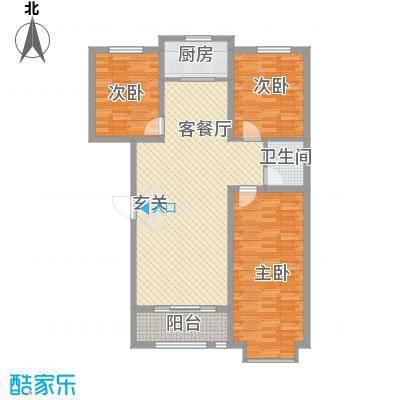 锦绣鹏城08户型3室2厅2卫