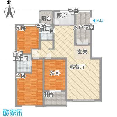 海韵星城12.00㎡E户型3室2厅2卫1厨