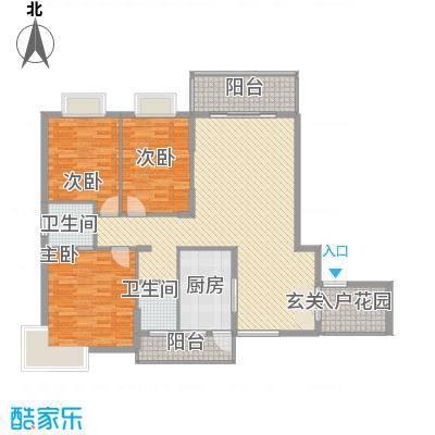 翠江锦苑13.14㎡户型3室2厅2卫1厨