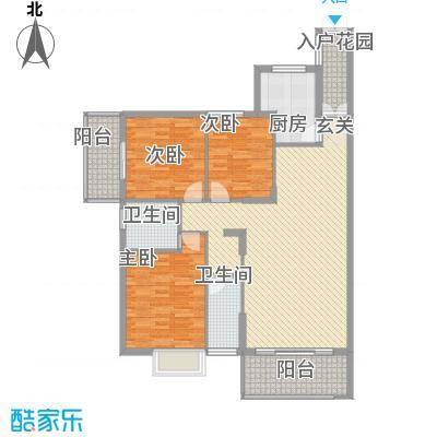 翠江锦苑11.53㎡翠江景苑户型3室2厅2卫1厨