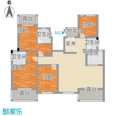 永顺东方塞纳168.34㎡6层户型2厅3卫