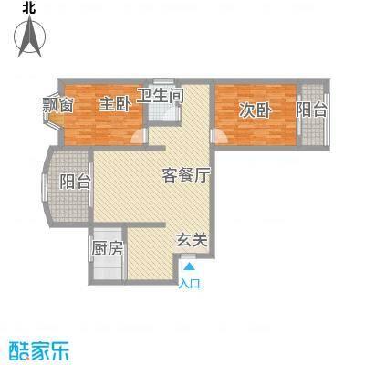 彩虹苑125.32㎡户型2室2厅1卫1厨