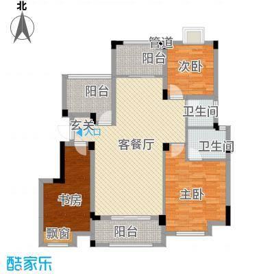 金鹏・爱丽舍宫12.21㎡洋房户型3室2厅2卫1厨