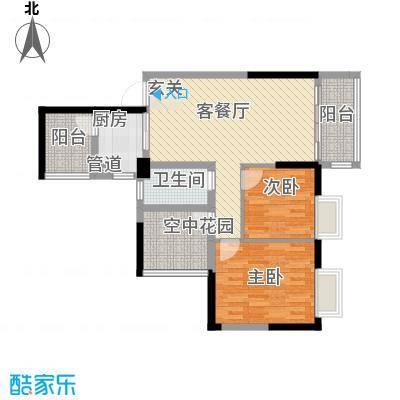 泰禾・江山美地78.58㎡户型