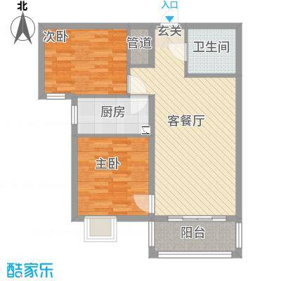 盛弘朗庭84.30㎡12-2-户型
