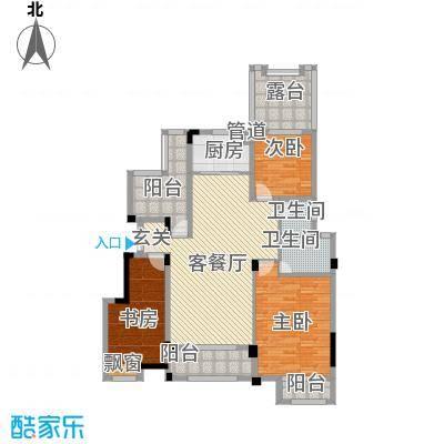 金鹏・爱丽舍宫126.18㎡洋房户型3室2厅2卫1厨