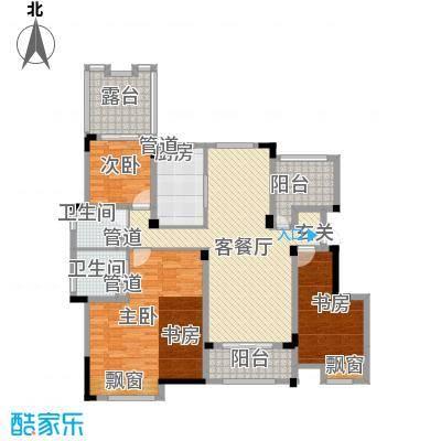 金鹏・爱丽舍宫143.68㎡洋房户型3室2厅2卫1厨