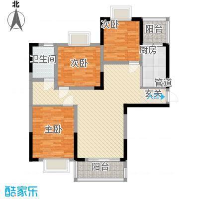 上海城黄浦花苑二期86.20㎡D-户型3室2厅2卫