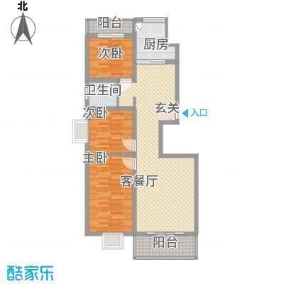 东安佳苑321112.19㎡e户型3室2厅1卫1厨