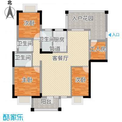 帝豪花园144.60㎡10栋03单元户型4室2厅3卫1厨