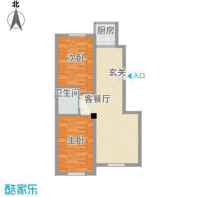 联发・香水湾二期M户型2室2厅1卫1厨
