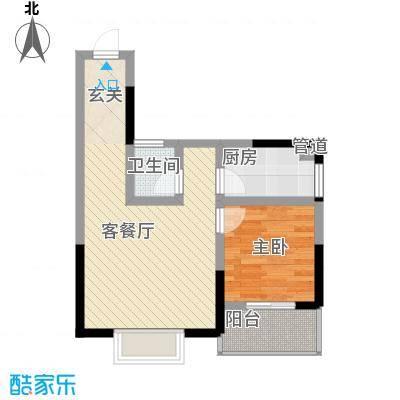 瑞金福邸58.88㎡05户型1室1厅1卫1厨