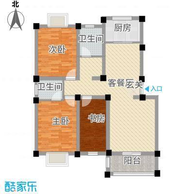中建・城市花园117.56㎡E1户型3室2厅2卫1厨