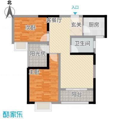 鑫融七里香溪12.70㎡A1户型2室2厅1卫1厨