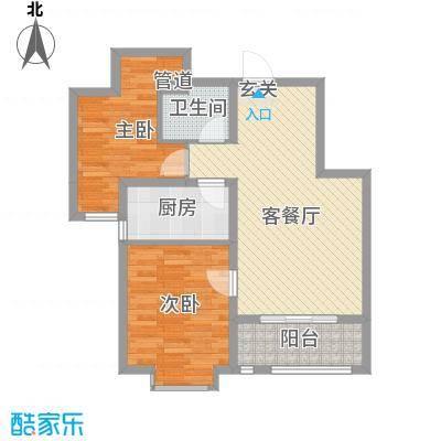 锦绣鹏城10_副本户型2室2厅1卫