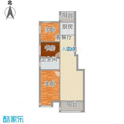 扬州城14.67㎡22#楼-户型3室2厅1卫1厨