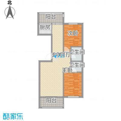 扬州城11.10㎡4#楼-户型2室2厅2卫1厨