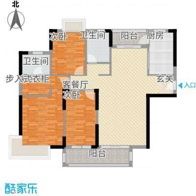 滨河佳苑114.72㎡C1_户型3室2厅2卫1厨