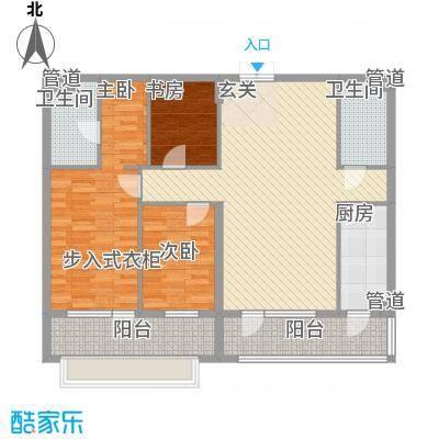 首创・龙湾户型3室2厅2卫1厨