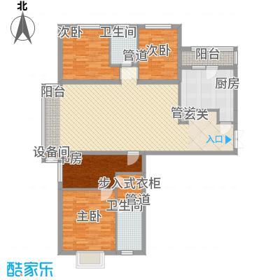 首创・龙湾户型4室2厅2卫1厨