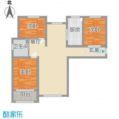 清山・漫香林125.55㎡清山漫香林高层15#A11011-02户型3室2厅1卫1厨