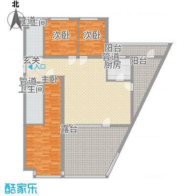 首创・龙湾户型3室2厅1卫1厨