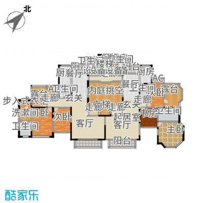 上海滩花园洋房(裕龙花园)A型\4A(2-2-2)180.14,4B(3-2-2)183.27户型-
