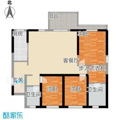 俊发・滨海俊园13.20㎡D户型3室2厅2卫1厨