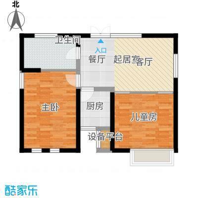 艺术家公寓90.00㎡CD座90平米两室一厅一卫户型2室1厅1卫-副本