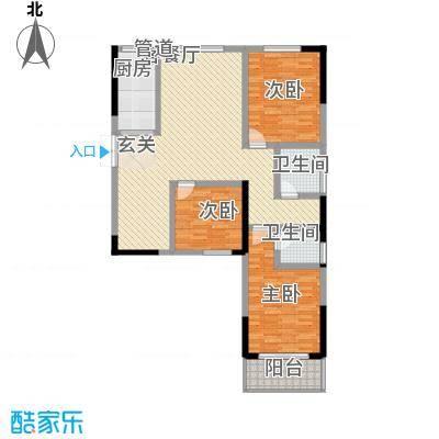 瑞金福邸14.10㎡08户型3室2厅2卫1厨