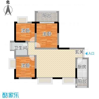 庐山星座2114.32㎡2-1户型3室2厅1卫1厨