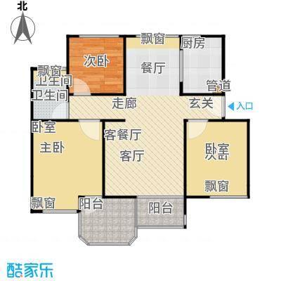 中梁英伦印象91平A3户型 4房2厅1卫户型-副本