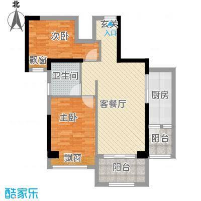 幸福里82.70㎡9号楼B户型2室2厅1卫1厨