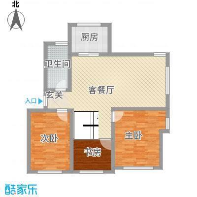 春江花园111.23㎡G5户型3室2厅1卫1厨