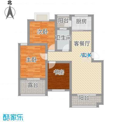 春江花园18.70㎡F3户型3室2厅1卫1厨